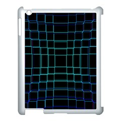 Background Wallpaper Texture Lines Apple Ipad 3/4 Case (white)