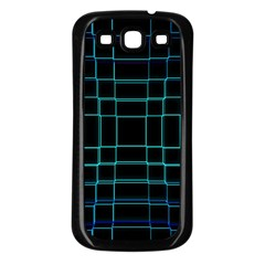 Background Wallpaper Texture Lines Samsung Galaxy S3 Back Case (black)