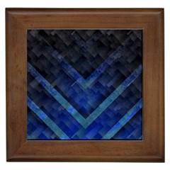 Blue Background Wallpaper Motif Design Framed Tiles