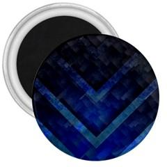 Blue Background Wallpaper Motif Design 3  Magnets