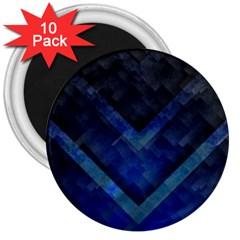 Blue Background Wallpaper Motif Design 3  Magnets (10 Pack)