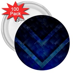 Blue Background Wallpaper Motif Design 3  Buttons (100 pack)