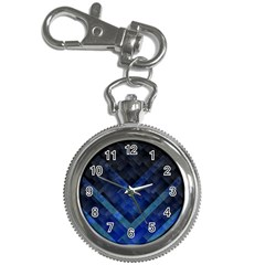 Blue Background Wallpaper Motif Design Key Chain Watches
