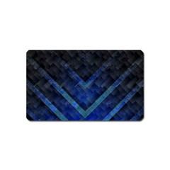 Blue Background Wallpaper Motif Design Magnet (name Card)