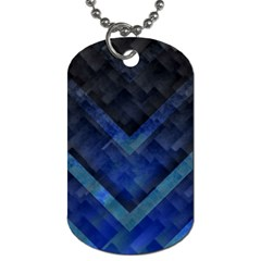 Blue Background Wallpaper Motif Design Dog Tag (one Side)