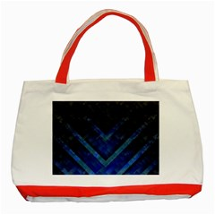 Blue Background Wallpaper Motif Design Classic Tote Bag (red)