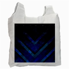 Blue Background Wallpaper Motif Design Recycle Bag (two Side)