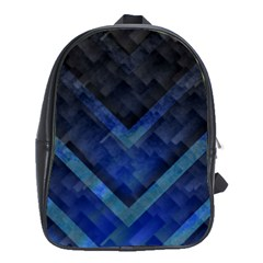 Blue Background Wallpaper Motif Design School Bags(large)