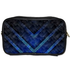 Blue Background Wallpaper Motif Design Toiletries Bags