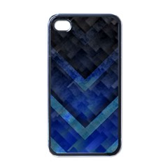Blue Background Wallpaper Motif Design Apple iPhone 4 Case (Black)