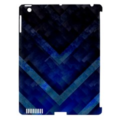 Blue Background Wallpaper Motif Design Apple Ipad 3/4 Hardshell Case (compatible With Smart Cover)