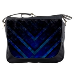 Blue Background Wallpaper Motif Design Messenger Bags