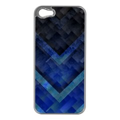 Blue Background Wallpaper Motif Design Apple Iphone 5 Case (silver)