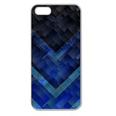 Blue Background Wallpaper Motif Design Apple Seamless Iphone 5 Case (clear)