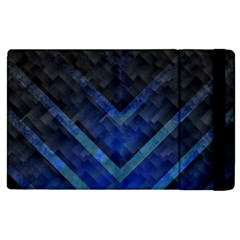 Blue Background Wallpaper Motif Design Apple Ipad 3/4 Flip Case