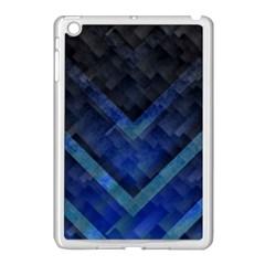 Blue Background Wallpaper Motif Design Apple Ipad Mini Case (white)