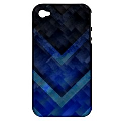 Blue Background Wallpaper Motif Design Apple Iphone 4/4s Hardshell Case (pc+silicone)