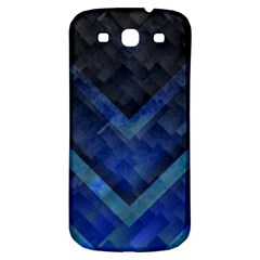 Blue Background Wallpaper Motif Design Samsung Galaxy S3 S Iii Classic Hardshell Back Case