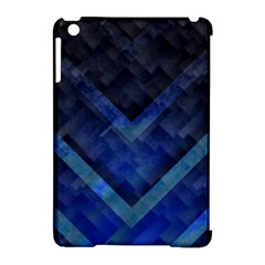 Blue Background Wallpaper Motif Design Apple Ipad Mini Hardshell Case (compatible With Smart Cover)