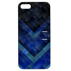 Blue Background Wallpaper Motif Design Apple Iphone 5 Hardshell Case With Stand