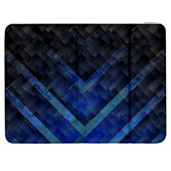 Blue Background Wallpaper Motif Design Samsung Galaxy Tab 7  P1000 Flip Case