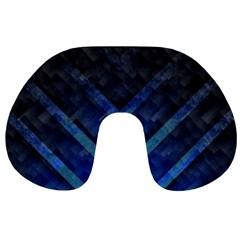 Blue Background Wallpaper Motif Design Travel Neck Pillows