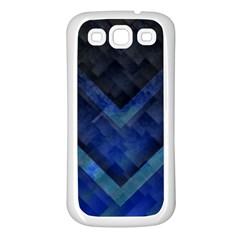Blue Background Wallpaper Motif Design Samsung Galaxy S3 Back Case (white)