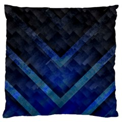 Blue Background Wallpaper Motif Design Standard Flano Cushion Case (one Side)