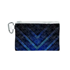 Blue Background Wallpaper Motif Design Canvas Cosmetic Bag (s)