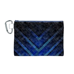 Blue Background Wallpaper Motif Design Canvas Cosmetic Bag (m)