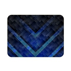 Blue Background Wallpaper Motif Design Double Sided Flano Blanket (Mini)