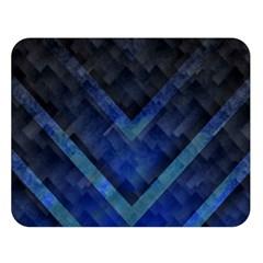 Blue Background Wallpaper Motif Design Double Sided Flano Blanket (large)