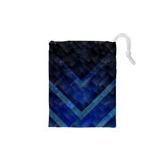 Blue Background Wallpaper Motif Design Drawstring Pouches (xs)