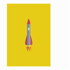 Plane Rocket Space Yellow Small Garden Flag (two Sides)