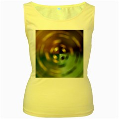 Blur Bokeh Colors Points Lights Women s Yellow Tank Top