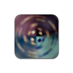 Blur Bokeh Colors Points Lights Rubber Coaster (square)