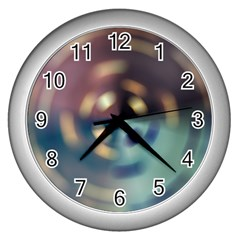Blur Bokeh Colors Points Lights Wall Clocks (silver)