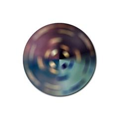 Blur Bokeh Colors Points Lights Rubber Coaster (round)