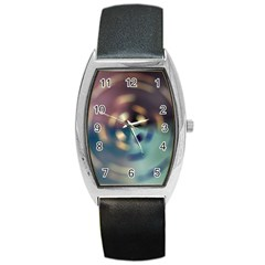Blur Bokeh Colors Points Lights Barrel Style Metal Watch