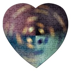 Blur Bokeh Colors Points Lights Jigsaw Puzzle (heart)