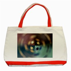 Blur Bokeh Colors Points Lights Classic Tote Bag (red)