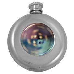Blur Bokeh Colors Points Lights Round Hip Flask (5 Oz)