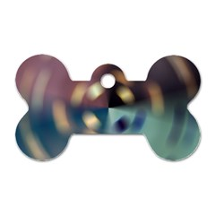 Blur Bokeh Colors Points Lights Dog Tag Bone (one Side)