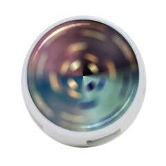 Blur Bokeh Colors Points Lights 4-Port USB Hub (One Side)