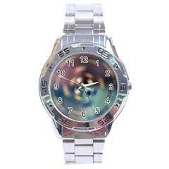 Blur Bokeh Colors Points Lights Stainless Steel Analogue Watch