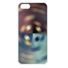 Blur Bokeh Colors Points Lights Apple Iphone 5 Seamless Case (white)