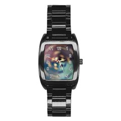 Blur Bokeh Colors Points Lights Stainless Steel Barrel Watch