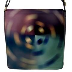 Blur Bokeh Colors Points Lights Flap Messenger Bag (s)
