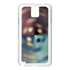 Blur Bokeh Colors Points Lights Samsung Galaxy Note 3 N9005 Case (white)