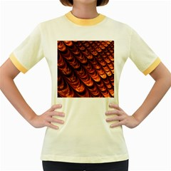 Brown Fractal Mathematics Frax Women s Fitted Ringer T Shirts
